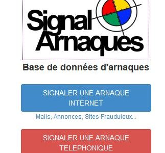 Le site www.signal-arnaques.com